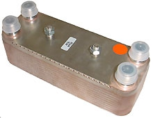 Plattenwärmetauscher WT03, 4x AG 1/2, Edelstahl