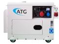Pflanzenöl Multifuel Generator 6 KVA 3-phasig 400/230V inkl. ATS-Startautomatik für Start/Stop bei Ausfall des Stromnetztes oder externer Ansteuerung